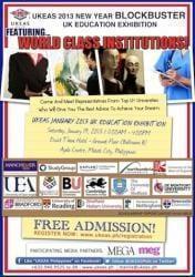 UKEAS 2013 NEW YEAR BLOCKBUSTER UK EDUCATION EXHIBITION!