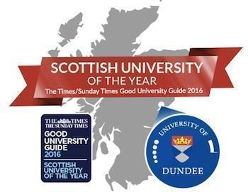 University of Dundee Named 2016 Scottish University of the Year!