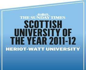 Heriot-Watt University Ranked 20th in the UK!