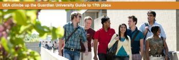 University of East Anglia climbs up the Guardian University Guide to 17th place